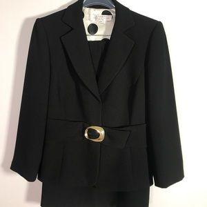 Black skirt petite dress suit